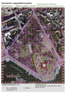 Kaivopuisto vappukartta - Teekkaripallojen myyntipaikka